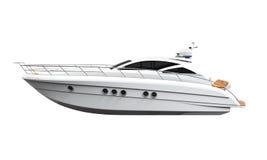 3d ilustracyjna przyjemność odpłaca się biały jacht ilustracja wektor