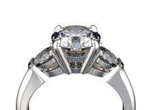 3d ilustracyjni złociści pierścionki Mody akcesorium klejnoty Zdjęcie Royalty Free