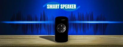 3D ilustracyjny Inteligentny mówca przyszłość, nagrywa, learnin royalty ilustracja