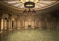 3d Ilustracyjny Orientalny pałac Zdjęcia Royalty Free