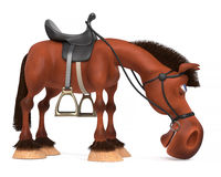 3d ilustracyjny piękny Podpalany koń Fotografia Royalty Free