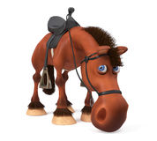 3d ilustracyjny piękny Podpalany koń Zdjęcia Royalty Free