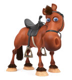3d ilustracyjny piękny Podpalany koń Fotografia Stock