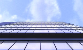 3d ilustration of glass building view from below with background Stock Photos