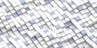Abstract color cube block Royalty Free Stock Image