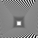 Optical illusion., 3d abstract tunnel