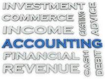 3d image Accounting issues concept word cloud background.  Royalty Free Stock Images