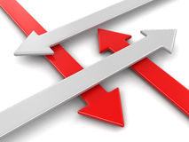 3d image of arrow Stock Photo