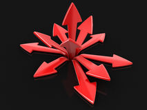 3d image of arrows in different directions. Image with clipping path Royalty Free Stock Photos