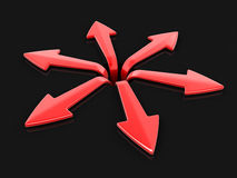 3d image of arrows in different directions. Image with clipping path Stock Image