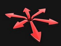 3d image of arrows in different directions. Image with clipping path Royalty Free Stock Photography