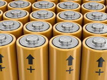 3d image of Batteries. Background Stock Images
