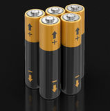 3d image of Batteries. Batteries. Image with clipping path Royalty Free Stock Photo