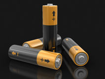 3d image of Batteries. Batteries. Image with clipping path Stock Image