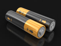 3d image of Batteries. Batteries. Image with clipping path Stock Photography
