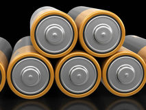 3d image of Batteries. Batteries. Image with clipping path Stock Images