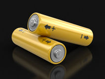3d image of Batteries. Batteries. Image with clipping path Stock Photo