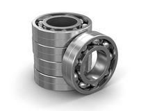 3d image of Bearings. Bearings. Image with clipping path Royalty Free Stock Photography