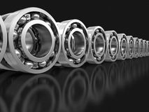 3d image of Bearings. Bearings. Image with clipping path Stock Images