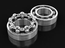 3d image of Bearings. Bearings. Image with clipping path Royalty Free Stock Image