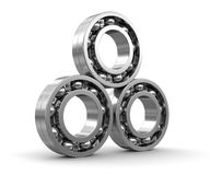 3d image of Bearings. Bearings. Image with clipping path Royalty Free Stock Photos