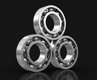3d image of Bearings. Bearings. Image with clipping path Stock Photo