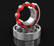 3d image of Bearings. Bearings. Image with clipping path Royalty Free Stock Images