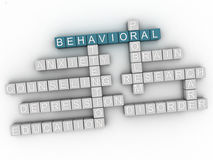3d image Behavioral issues concept word cloud background.  Royalty Free Stock Photos