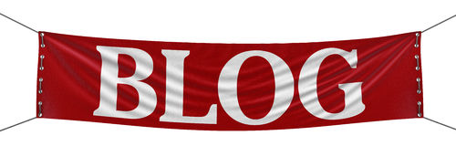 3d image of Big Blog Banner. Big Blog Banner. Image with clipping path Royalty Free Stock Photos