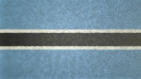 3D image of the Botswana flag. The colors that distinguish it black, white and light blue Royalty Free Stock Images