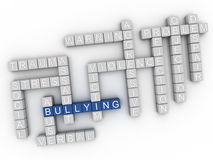 3d image Bullying issues concept word cloud background Stock Photos