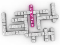 3d image Burnout issues concept word cloud background Stock Image