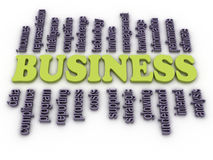 3d image Business concept word cloud background Royalty Free Stock Photos