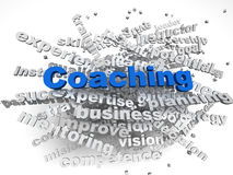 3d image Coaching  issues concept word cloud background Royalty Free Stock Photo