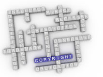 3d image Copyright  issues concept word cloud background Stock Photography