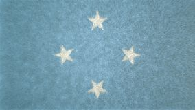 3D image of the Federated States of Micronesia flag. 3D image of the 3D flag image of the Federated States of Micronesia flag. The main color is blue with 4 Stock Photos