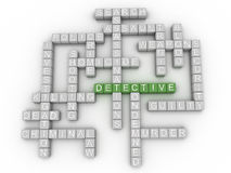 3d image Detective  issues concept word cloud background Stock Photo