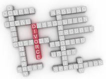 3d image Divorce issues concept word cloud background Stock Photo