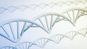 3D image of DNA strands Stock Photo