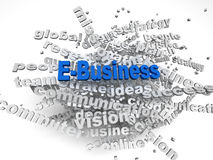 3d image E-Business   issues concept word cloud background Royalty Free Stock Photo