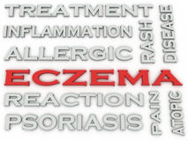 3d image Eczema word cloud concept Stock Photography