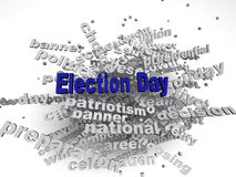 3d image Election Day issues concept word cloud background Stock Photos