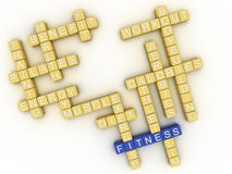 3d image Fitness  issues concept word cloud background Stock Image