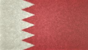 3D image of the flag of Bahrain. Red and white characterize the flag Royalty Free Stock Image