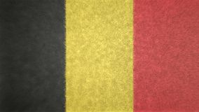 3D image of the flag of Belgium. Stock Photos
