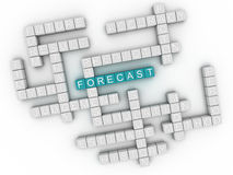 3d image Forecast issues concept word cloud background Royalty Free Stock Photography