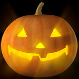 3d image of glowing jack-o-Lantern Stock Photo