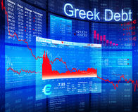 3D Image of Greek debt crisis Royalty Free Stock Image