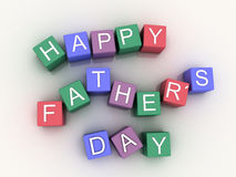 3d image Happy Father´s Days Stock Photography