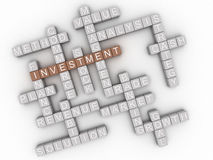 3d image Investment  issues concept word cloud background Stock Photos